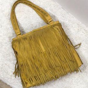 B. Makowsky mustard yellow Sienna tote bag